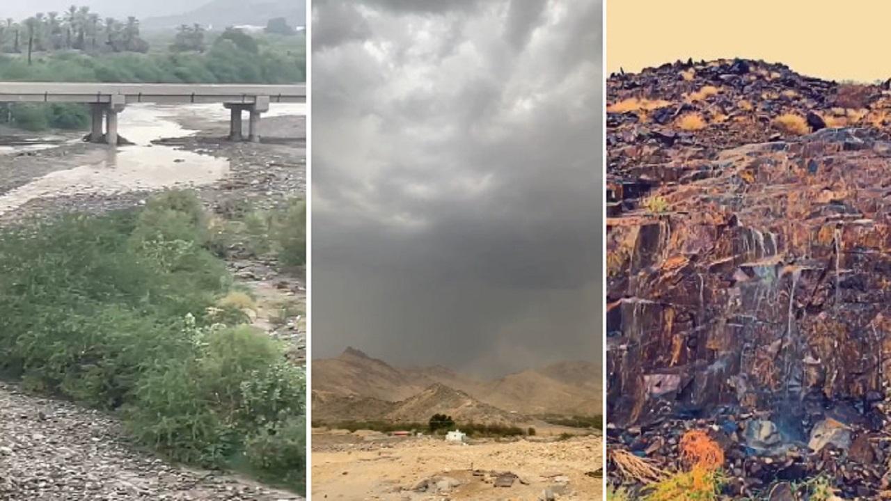 بالفيديو .. صواعق وعواصف وأمطار متفرقة على أضم وقراها