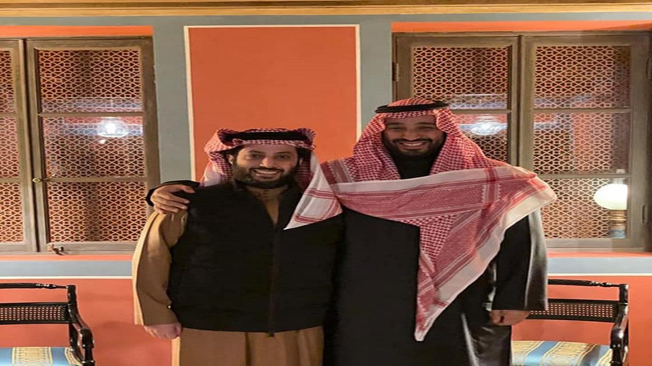 تركي آل الشيخ يوجه رسالة لولي العهد في عيد ميلاده الـ 40