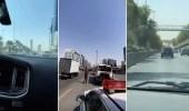 بالفيديو .. رصد مركبات مخالفة على بعض طرق الرياض