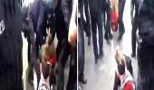 بالفيديو .. الشرطة الألمانية تضرب طفلاً حاول الدفاع عن أمه