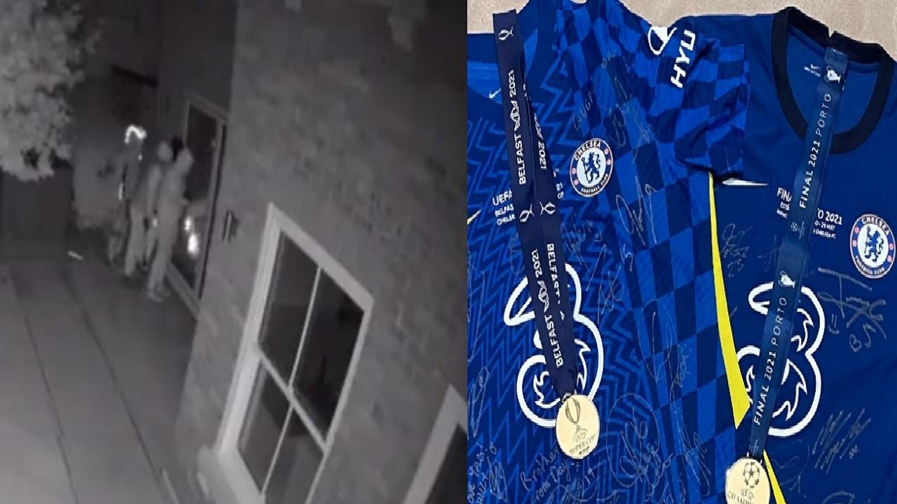 بالفيديو.. لحظة اقتحام منزل لاعب تشيلسي وسرقة ميدالية دوري الأبطال