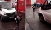 بالفيديو.. طفلة تسحب شاحنة ضخمة بمسابقة أقوى امرأة