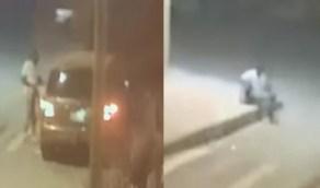 بالفيديو.. لحظة سرقة مركبة من أمام منزل صاحبها ليلا في الرياض