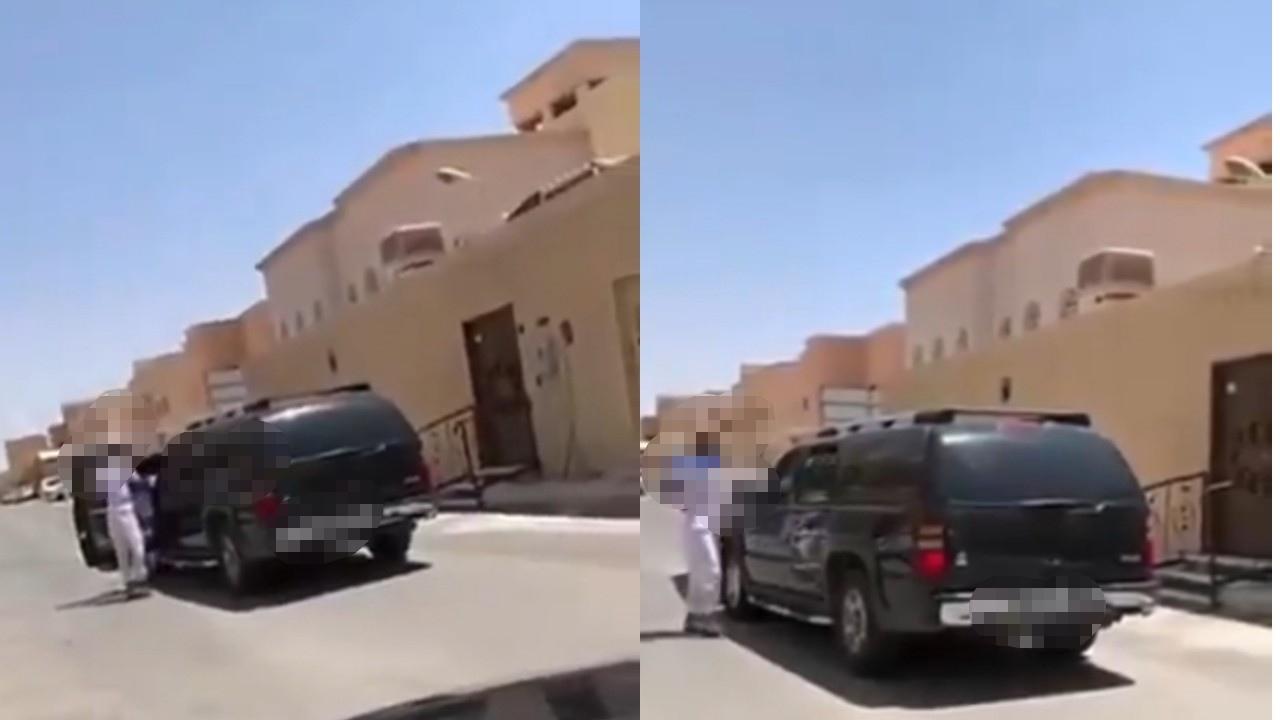 بالفيديو.. شاب يعترض سيارة بها نساء ويدخل في مشادة معهن ويعتدي على قائدها