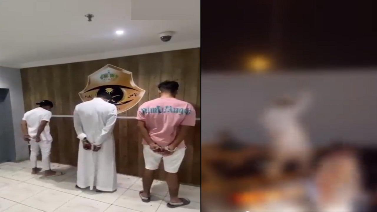 فيديو.. الإطاحة بـ 5 مواطنين تحرشوا بفتيات في مكة