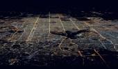 صورة رائعة من سماء الرياض على ارتفاع 35 الف قدم