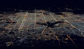 رائعة من سماء الرياض على ارتفاع 35 الف قدم