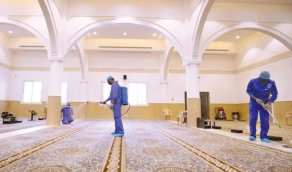 الشؤون الإسلامية تعيد افتتاح مسجد بعد تعقيمه في الجوف