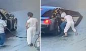 بالفيديو .. لحظة خطف عامل بمحطة بنزين داخل مركبة