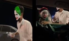 بالفيديو.. شابان يحاولان إخافة فتيات داخل مركبة