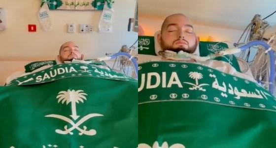 بالفيديو.. الأمير الوليد بن خالد بن طلال يحتفل باليوم الوطني في غرفة العناية المركزة