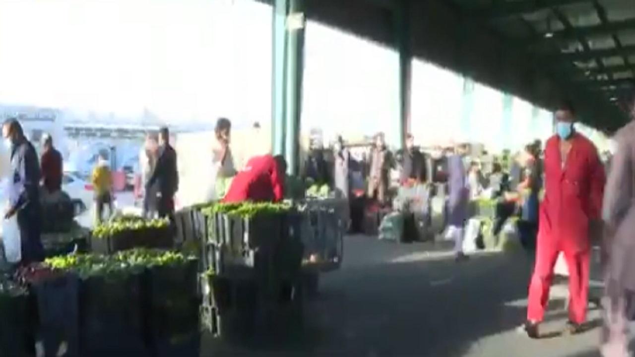 بالفيديو .. تكدس عمالة مخالفة في أحد أسواق الخضار بالرياض