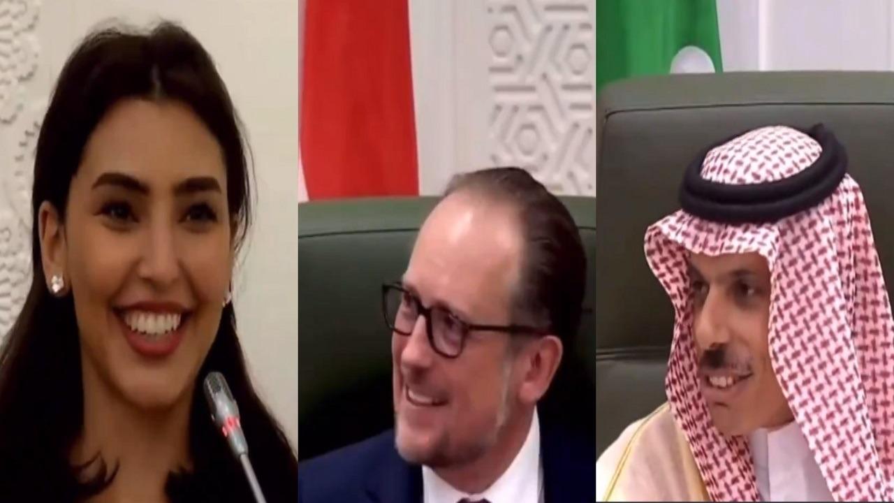 فيديو.. مراسلة العربية تفاجيء وزير خارجية النمسا بتحدثها الألمانية