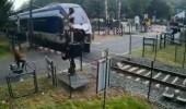 بالفيديو.. امرأة تنجو بأعجوبة من قطار كاد يدهسها أثناء عبورها