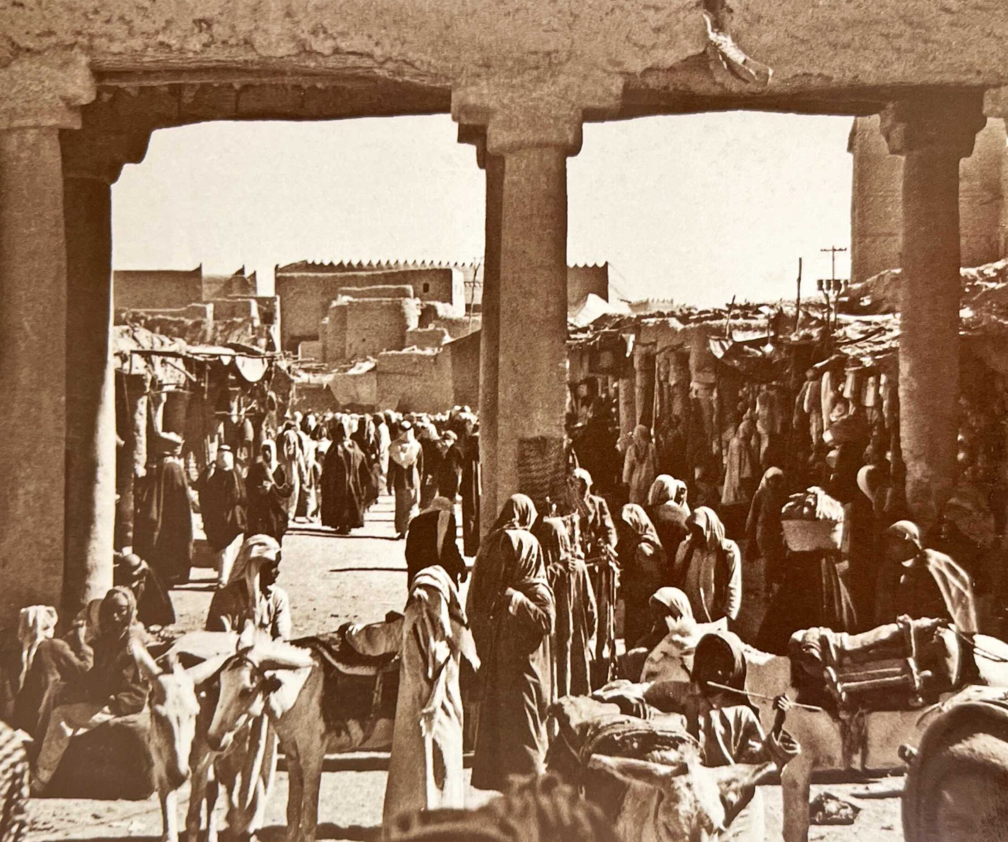 سوق العلف في الرياض قديما