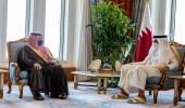 أمير قطر يستقبل سمو الأمير عبدالعزيز بن سعود بن نايف