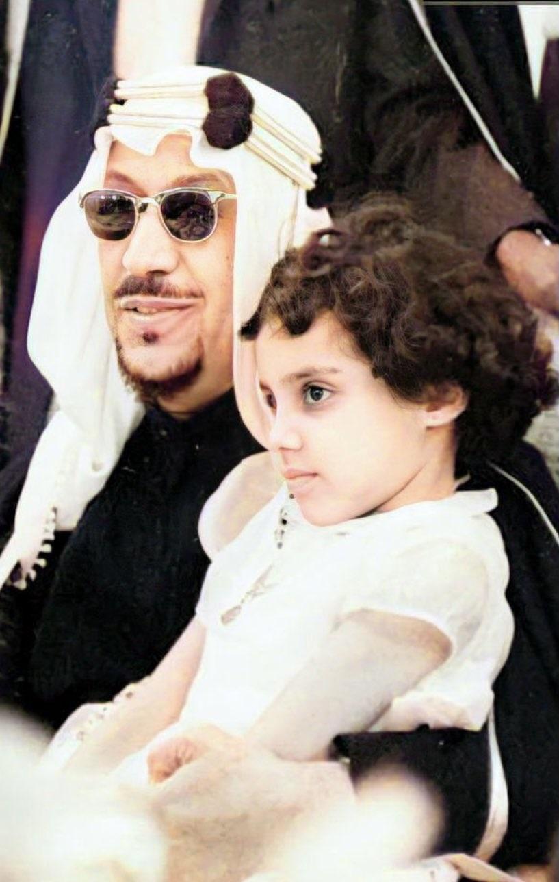 الأميرة دلال بنت سعود رحمها الله في طفولتها