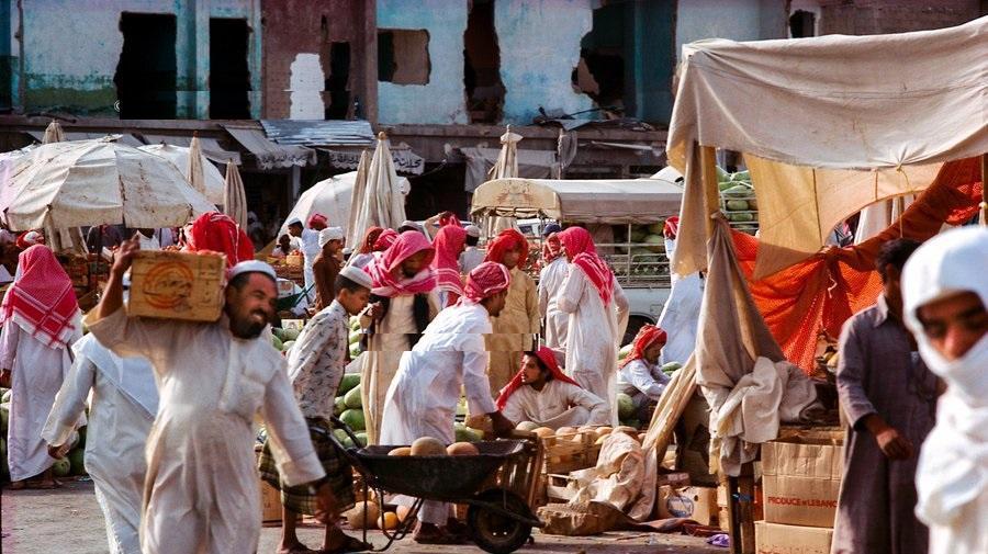 سوق الفاكهة في نجران عام 1399هـ