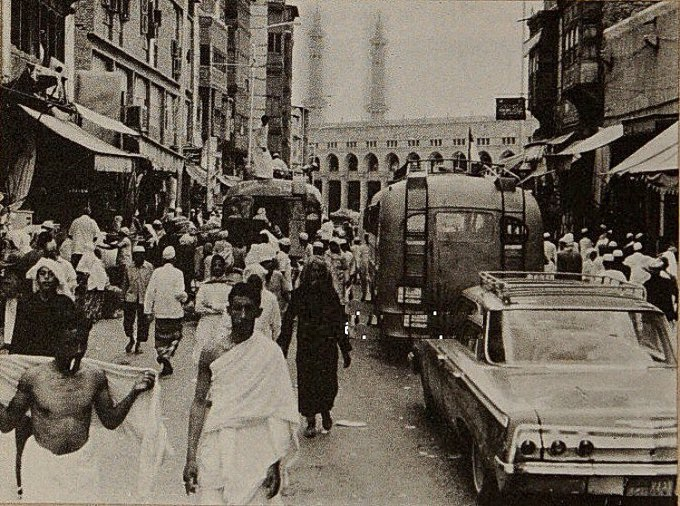 من نوادر الصور مكة المكرمة في أحد مواسم الحج قديما