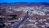 منظر جوي جميل لمدينة أبها قبل 43 عام