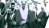 صورة نادرة لـ الملك سعود ونجله الأمير خالد
