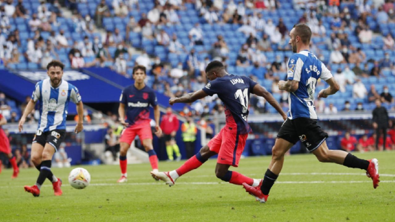أتلتيكو مدريد يفوز على إسبانيول في الوقت بدل الضائع