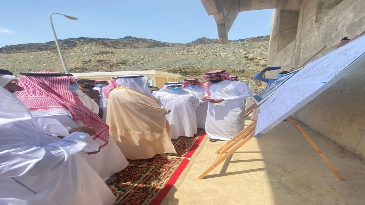 """""""الشريف"""" يدشن مشروع سد وادي قنونا بمحافظة العرضيات"""