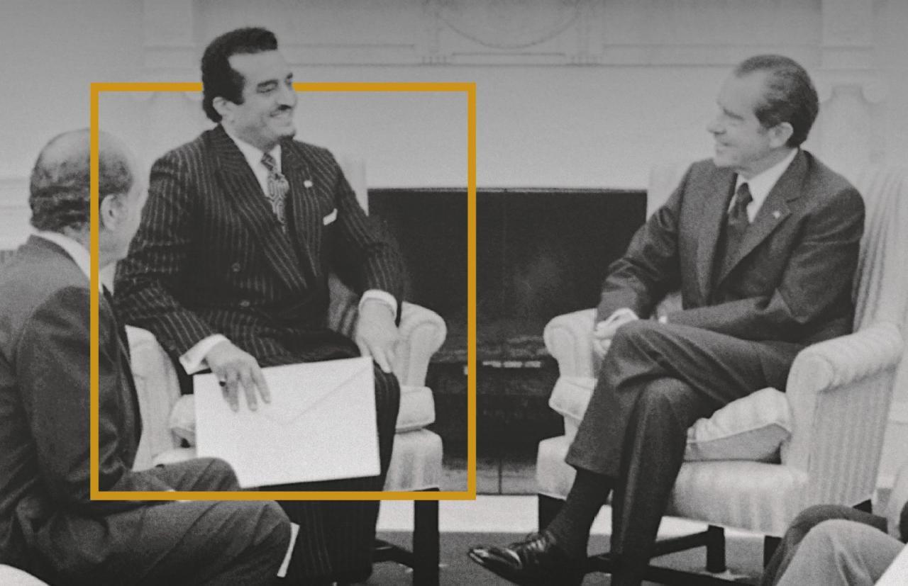 """صورة تاريخية تجمع الملك فهد مع الرئيس الأمريكي """"نيكسون"""" في البيت الأبيض قبل 51 عام"""