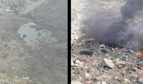 """حقيقة """"فيديو"""" حرق في مردم الطائف بالنسيم"""