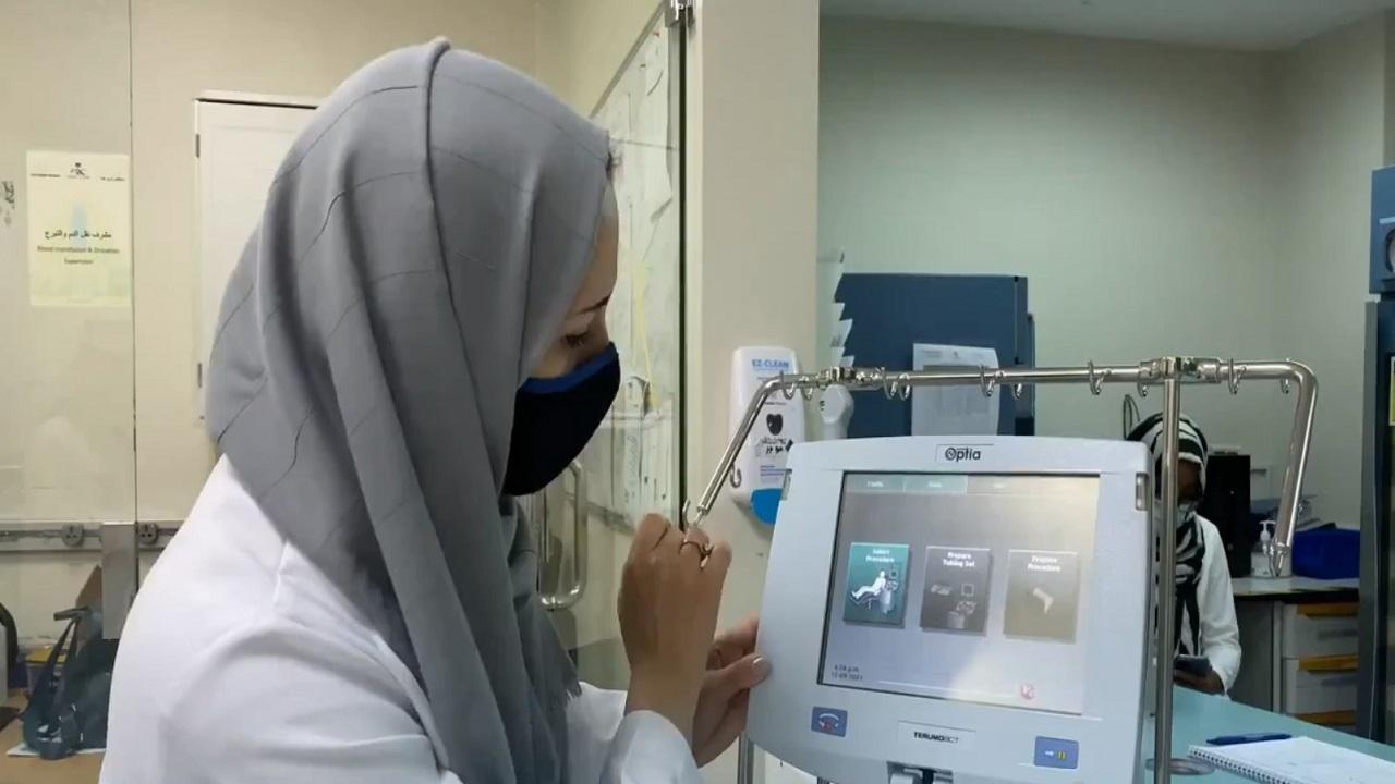 استخدام جهاز لتغيير ونقل الدم دون تدخل بشري لأول مرة بمستشفى في جدة