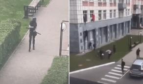 """بالفيديو.. هجوم مسلح على جامعة روسية بطريقة """"ببجي"""""""