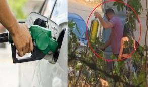 """لبنانية تحصل على البنزين بـ """"قبلة"""""""