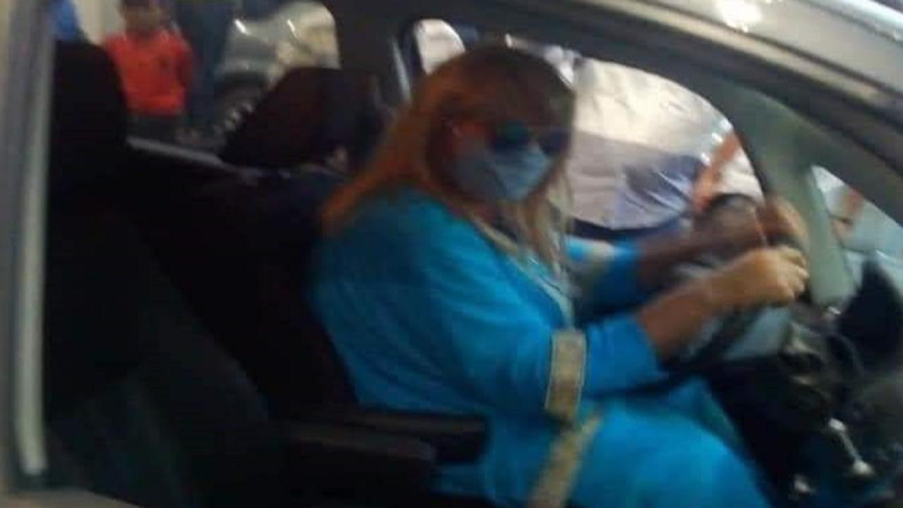 بالفيديو.. شاب يتنكّر بزي امرأة للحصول على البنزين
