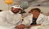أصالة تلتقط صورة رومانسية مع زوجها فائق حسن
