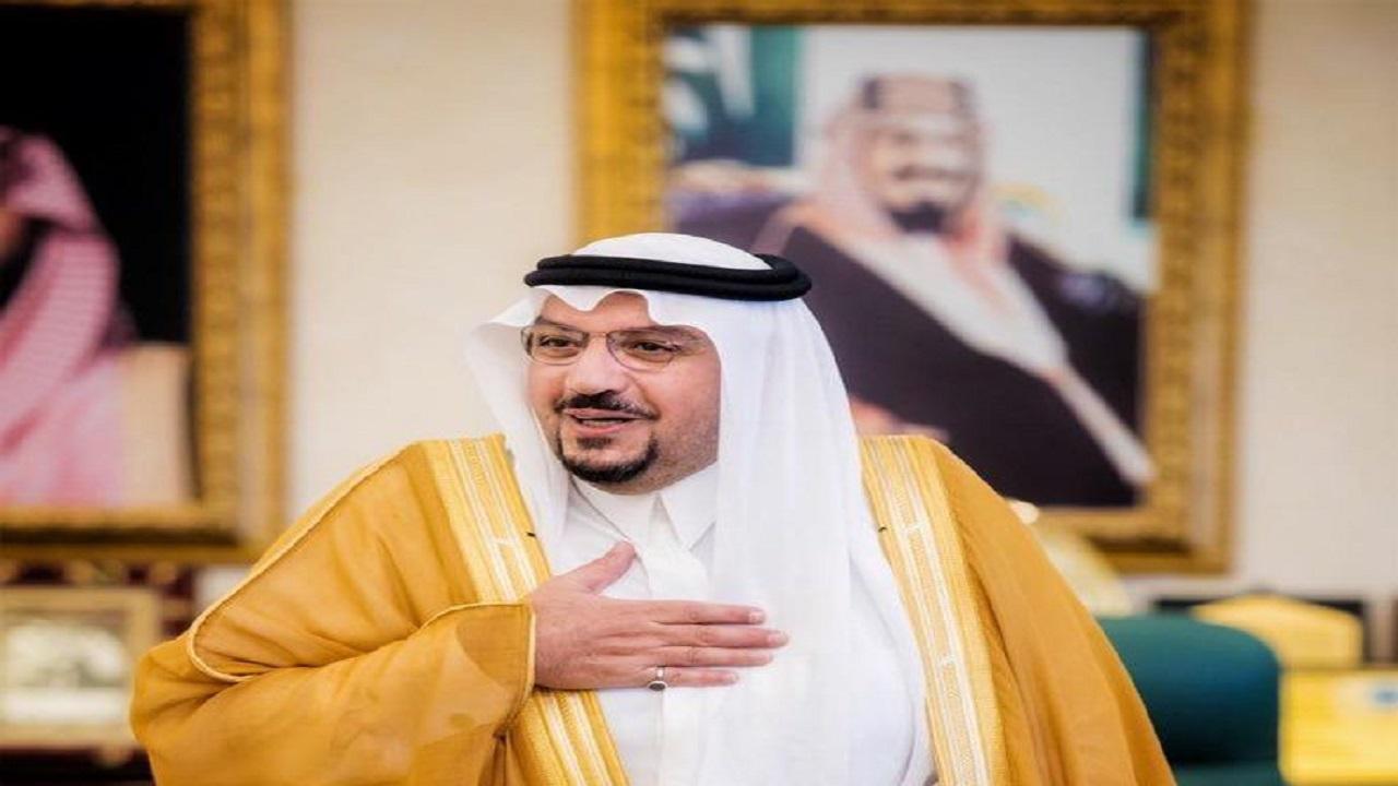 أمير القصيم يثمن جهود تعليم القصيم تجاه إطلاق مبادرة سقيا آمنة