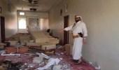 صور.. مليشيا الحوثي تفجر منزل محافظ مأرب بصاروخين