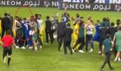 شاهد.. لحظة انفعال حسين عبدالغني على سلمان الفرج بعد مباراة الديربي