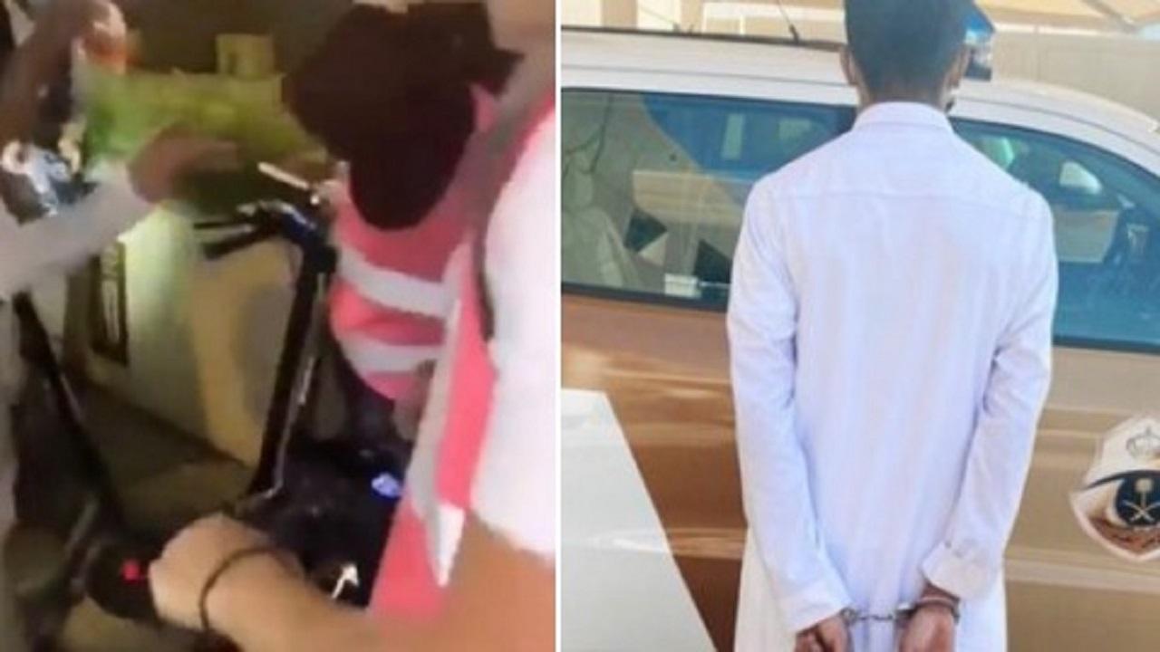 القبض على شخص تحرش بامرأة في مكان عام ووثق فعله بفيديو
