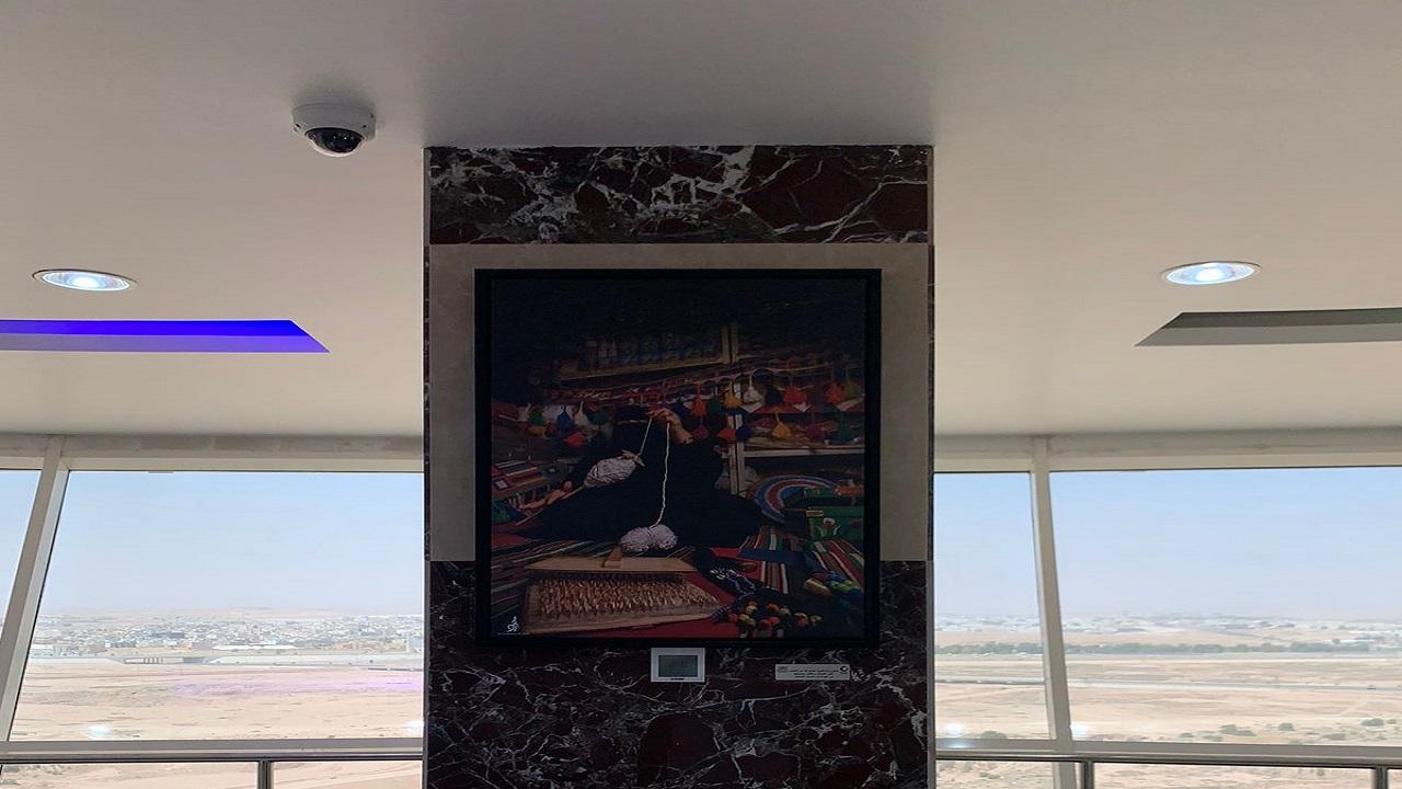 ثقافة الشمالية تزين برج عرعر بأعمال فنية
