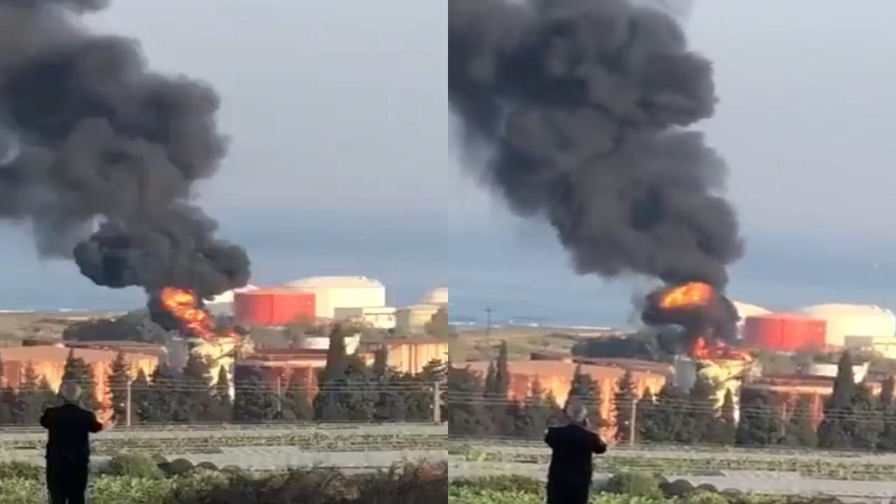 بالفيديو.. حريق كبير قرب منشأة نفط في لبنان