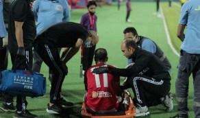 إصابة لاعب الأهلي المصري بارتجاج في المخ