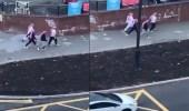 بالفيديو .. جماهير نيوكاسل يتجولون في الشوارع بالشماغ والعقال