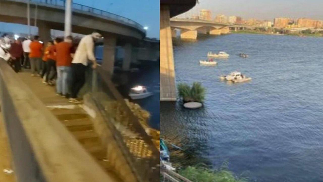 حادث مأساوي.. البحث عن 14 شخصًا بعد سقوط حافلة بهم في نهر النيل