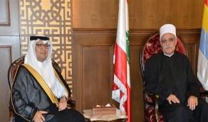 اجتماع سفير المملكة بلبنان مع شيخ عقل طائفة الموحدين الدروز
