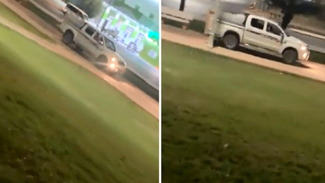 ضبط سائق قاد مركبته على ممشى طريق بعرعر