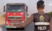 """بالفيديو.. """"المرور"""" يرصد عدة مخالفات ضد قائدي الشاحنات"""