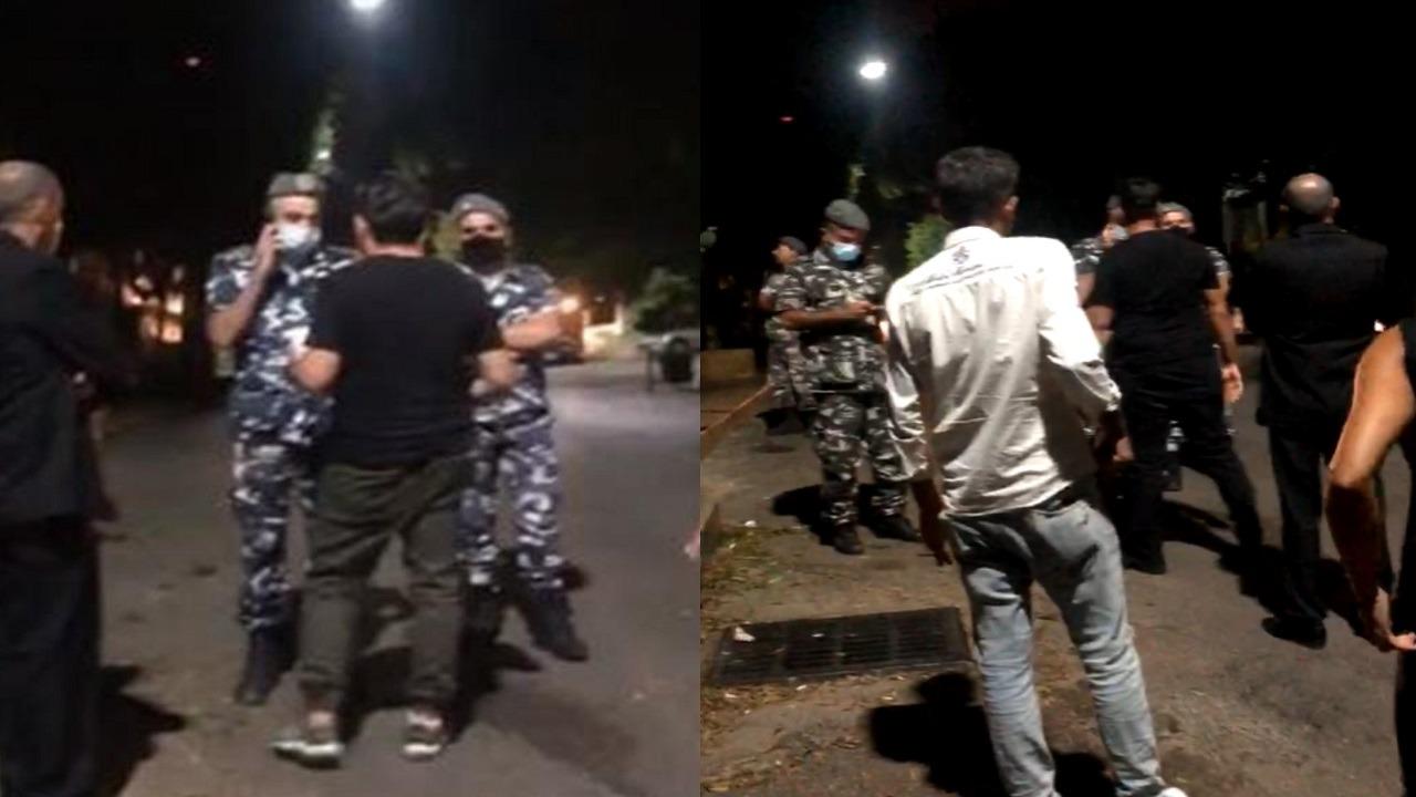 فيديو..ضرب واعتداء أمام منزل رئيس مصارف لبنان