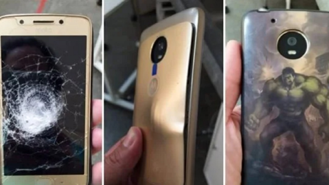 بالصور.. جراب هاتف ينقذ رجل من إطلاق الرصاص