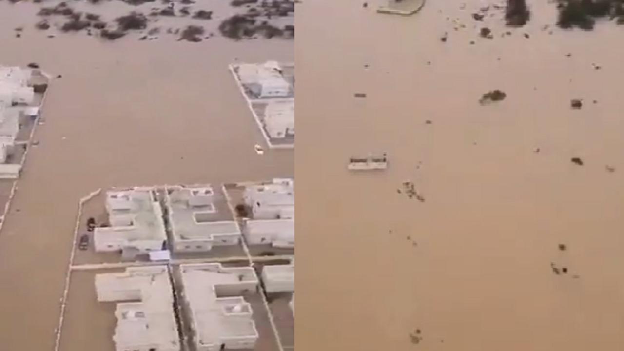 """فيديو يرصد أثار إعصار """"شاهين"""" في عمان"""
