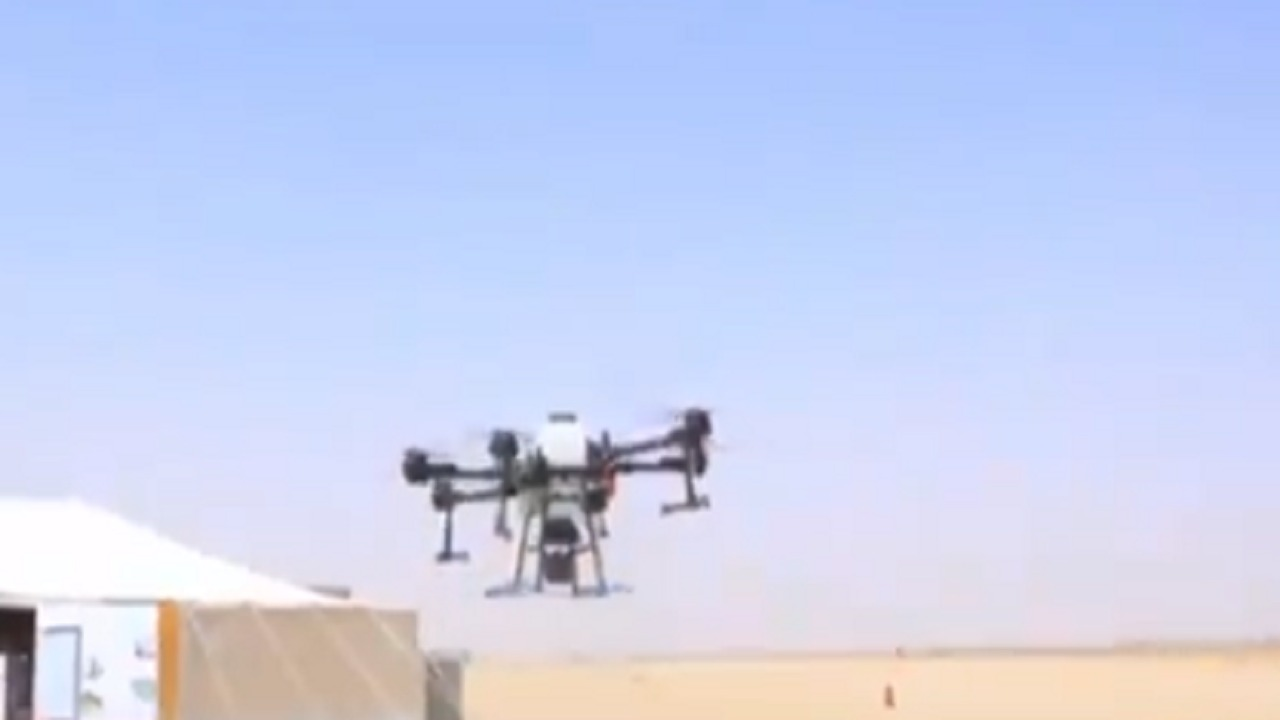شاهد.. إطلاق أول طائرة درونز زراعية في المملكة والوطن العربي بمحافظة رماح